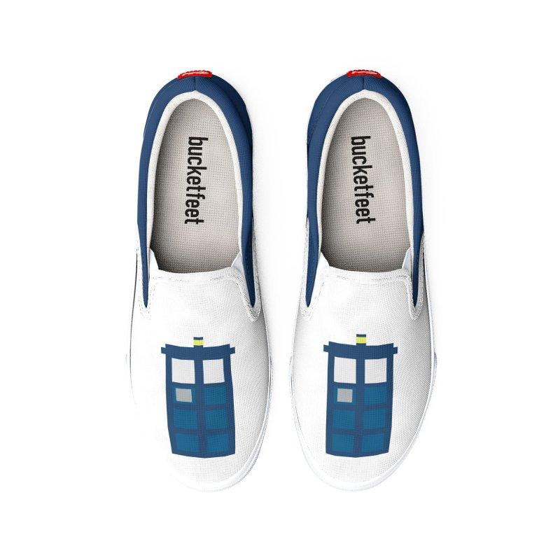 Blue Box Women's Shoes by AvijoDesign's Artist Shop