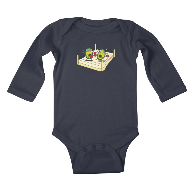 Smashed Avocado on Toast Kids Baby Longsleeve Bodysuit by Avo G'day!