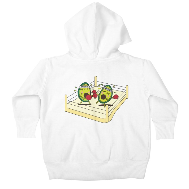 Smashed Avocado on Toast Kids Baby Zip-Up Hoody by Avo G'day!