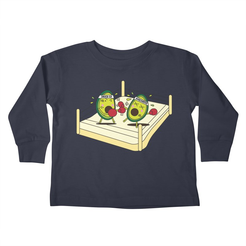 Smashed Avocado on Toast Kids Toddler Longsleeve T-Shirt by Avo G'day!