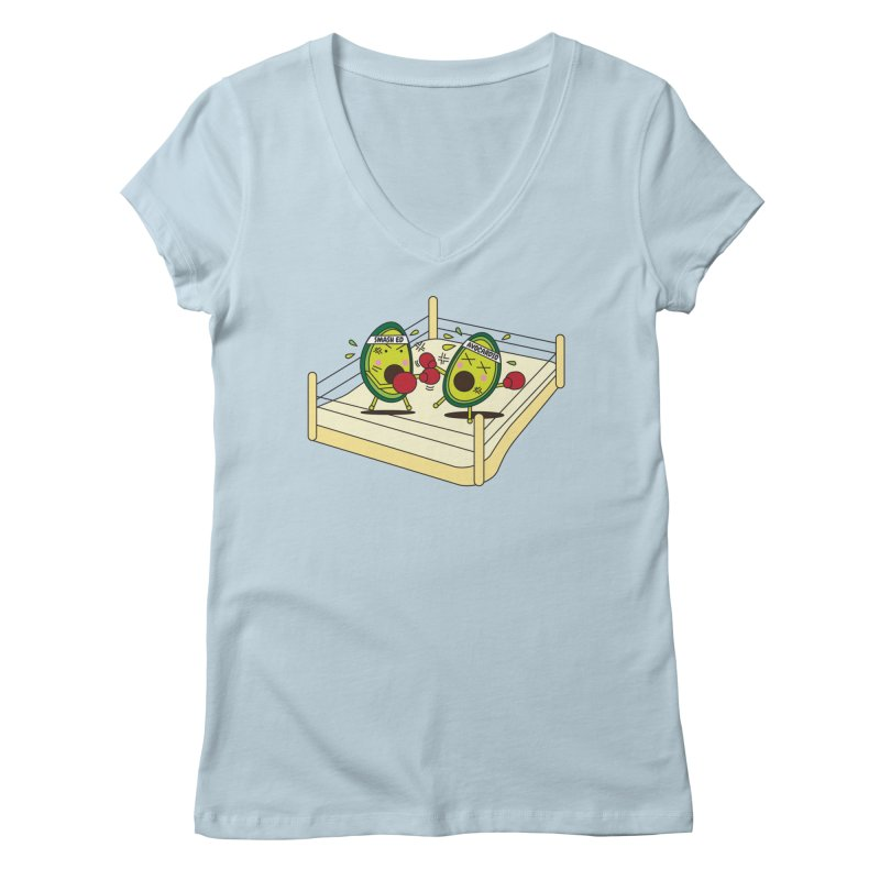 Smashed Avocado on Toast Women's V-Neck by Avo G'day!