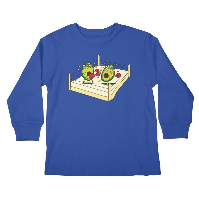 Smashed Avocado on Toast Kids Longsleeve T-Shirt by Avo G'day!