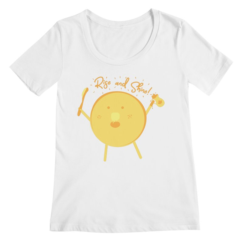 Rise and Shine! Women's Regular Scoop Neck by Avo G'day!