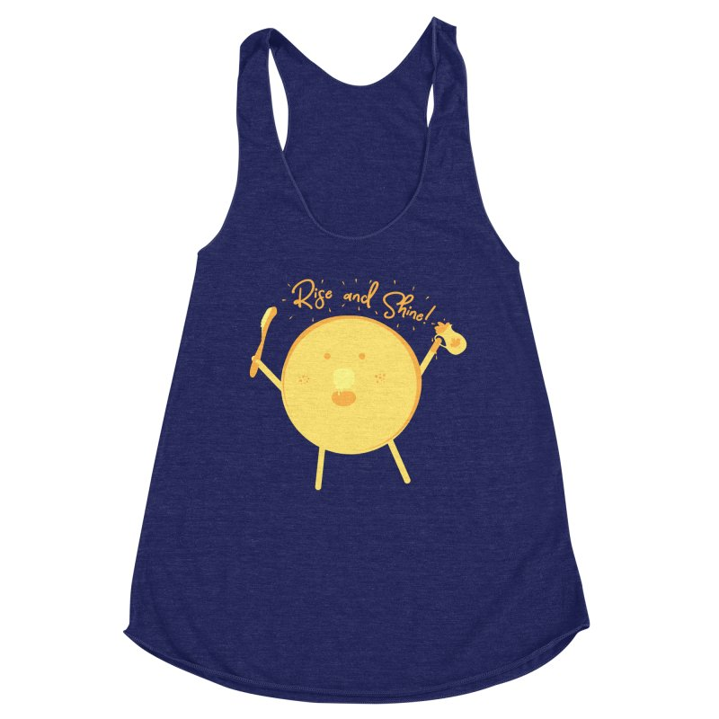 Rise and Shine! Women's Racerback Triblend Tank by Avo G'day!