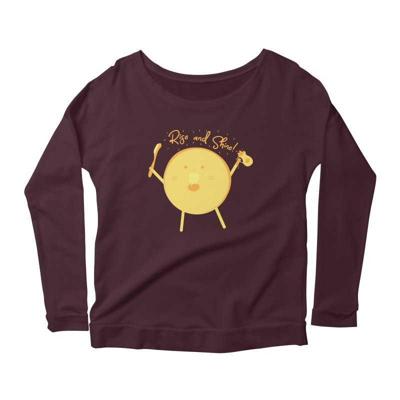 Rise and Shine! Women's Scoop Neck Longsleeve T-Shirt by Avo G'day!
