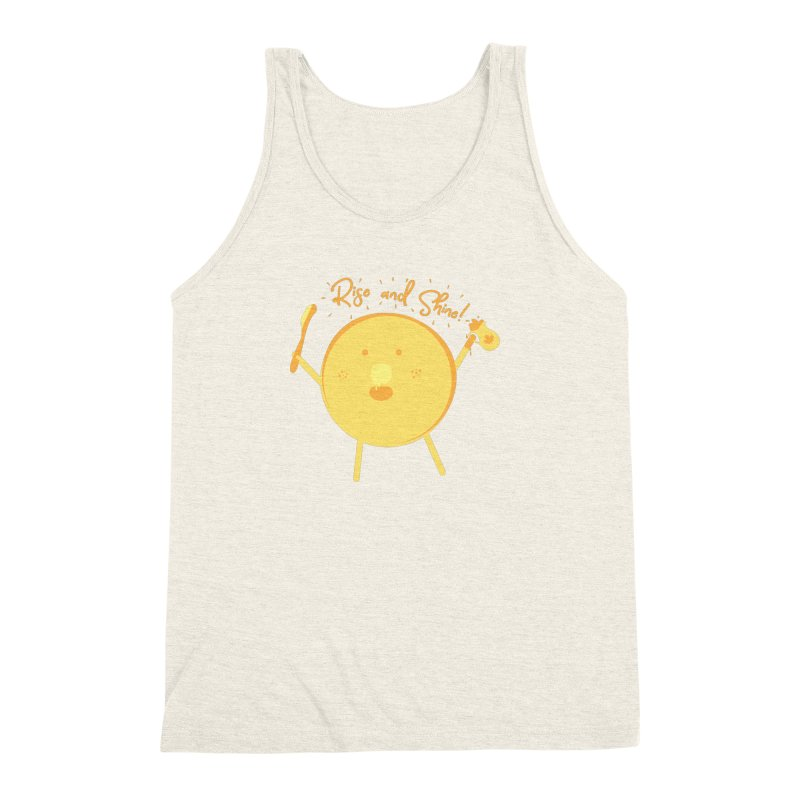 Rise and Shine! Men's Triblend Tank by Avo G'day!