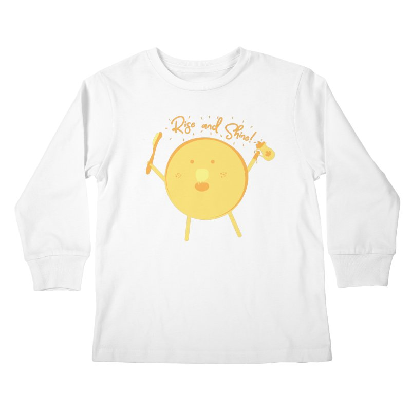 Rise and Shine! Kids Longsleeve T-Shirt by Avo G'day!