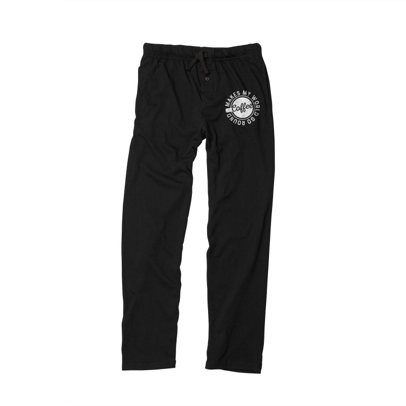 Coffee Makes My World Go Round - White Men's Lounge Pants by Avo G'day!