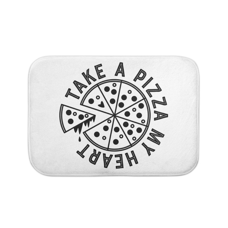 Pizza My Heart - Black Home Bath Mat by Avo G'day!