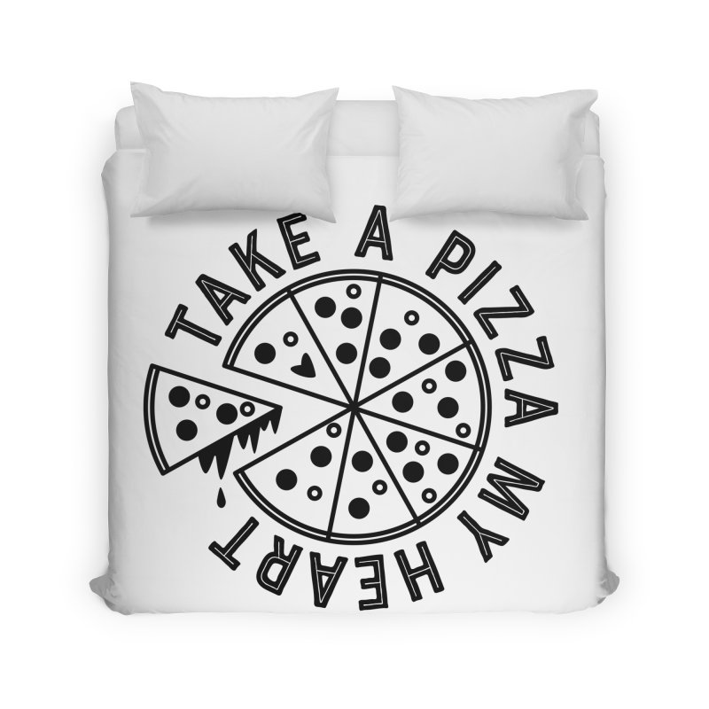 Pizza My Heart - Black Home Duvet by Avo G'day!