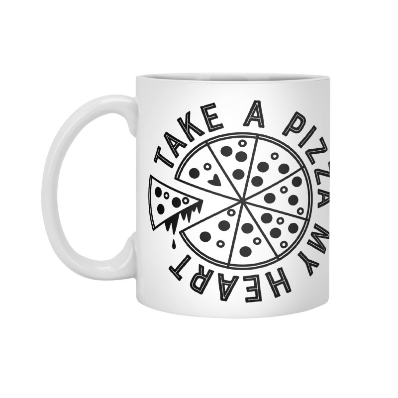 Pizza My Heart - Black Accessories Mug by Avo G'day!