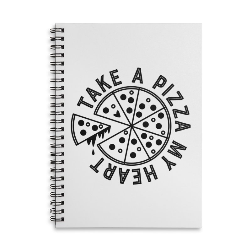 Pizza My Heart - Black Accessories Notebook by Avo G'day!