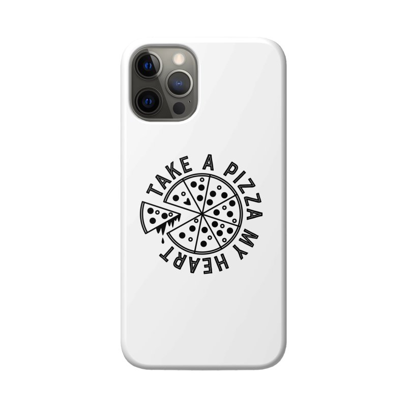 Pizza My Heart - Black Accessories Phone Case by Avo G'day!