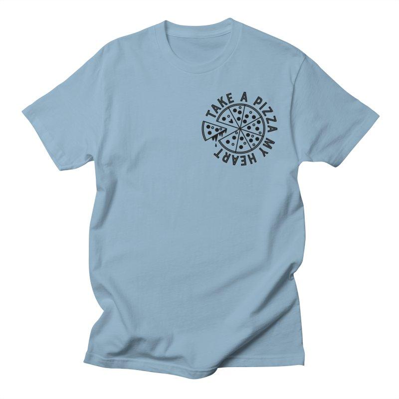 Pizza My Heart - Black Men's T-Shirt by Avo G'day!