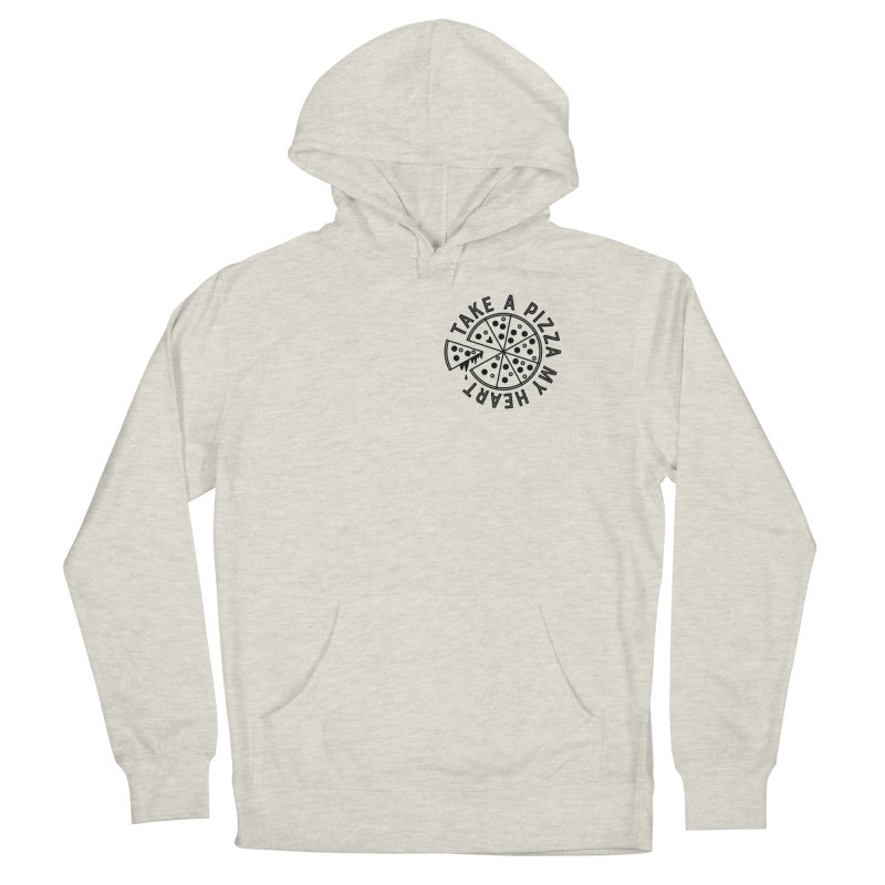 Pizza My Heart - Black Men's French Terry Pullover Hoody by Avo G'day!