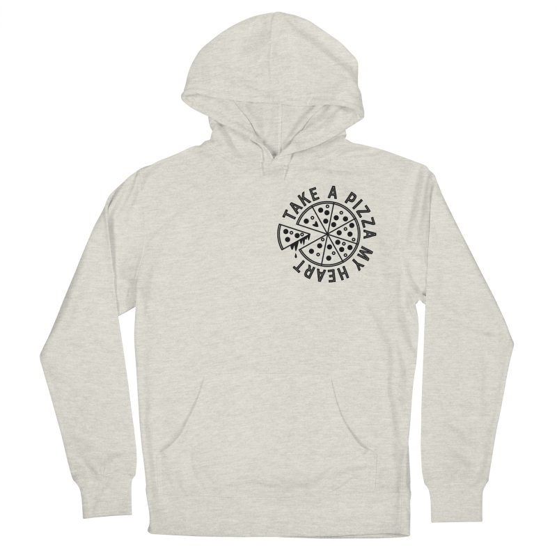 Pizza My Heart - Black Women's French Terry Pullover Hoody by Avo G'day!