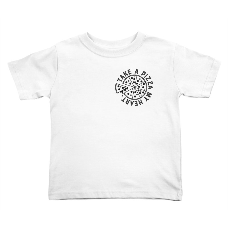 Pizza My Heart - Black Kids Toddler T-Shirt by Avo G'day!
