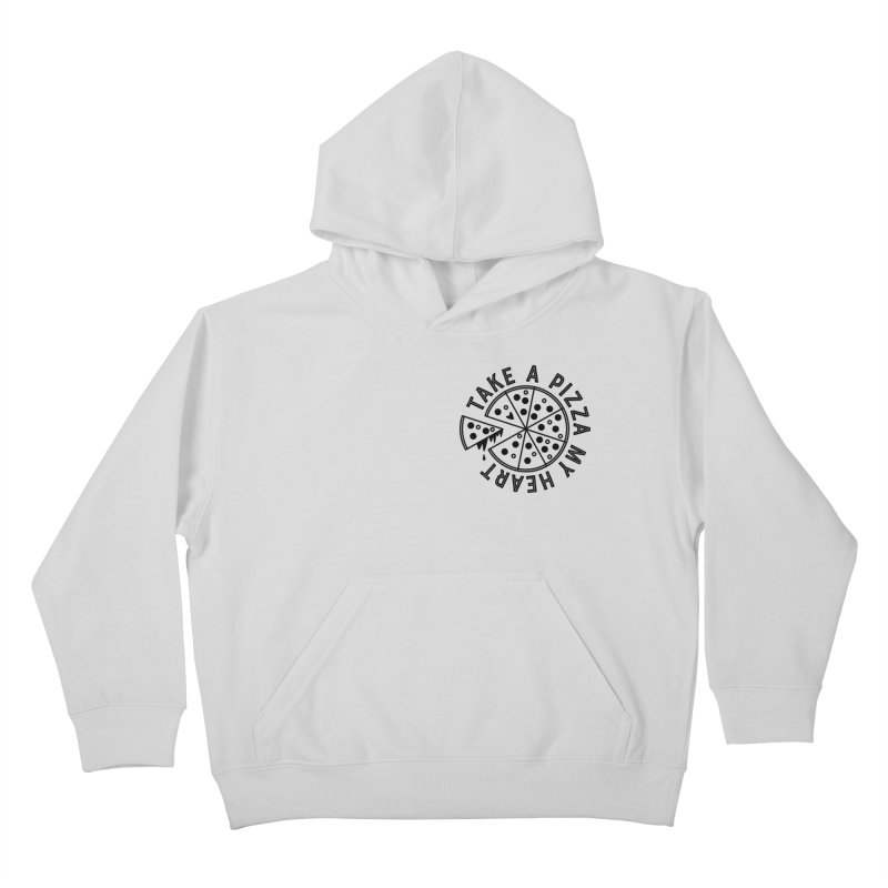 Pizza My Heart - Black Kids Pullover Hoody by Avo G'day!