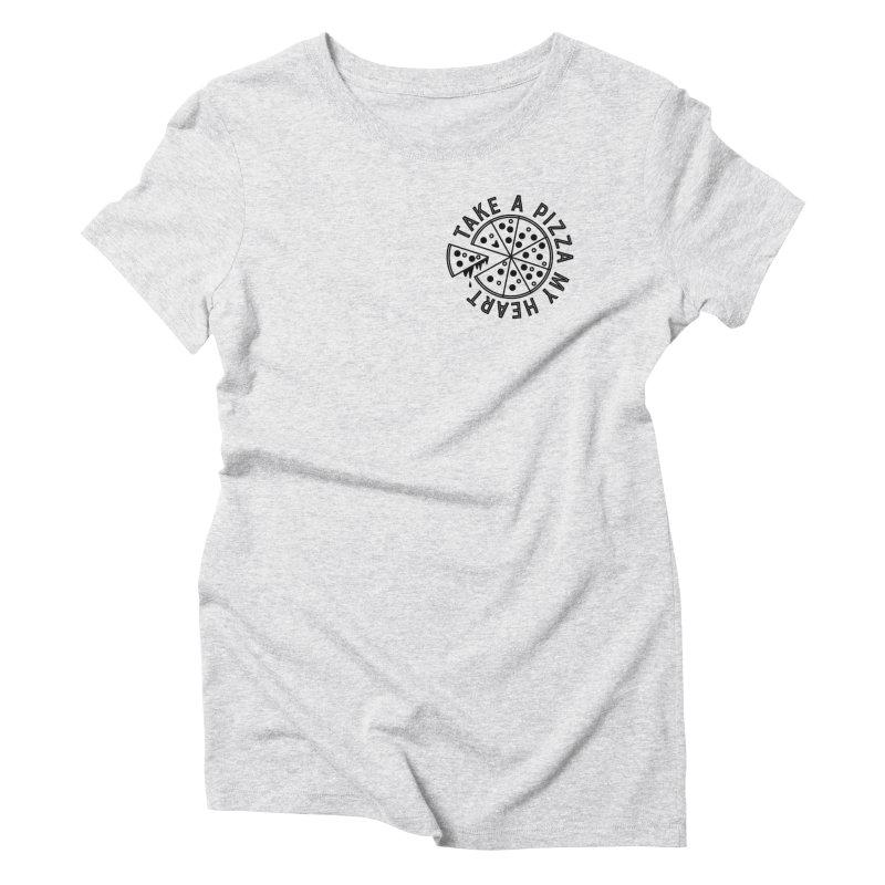 Pizza My Heart - Black Women's T-Shirt by Avo G'day!