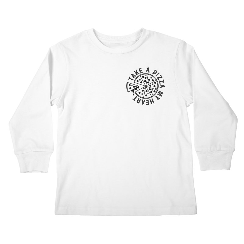 Pizza My Heart - Black Kids Longsleeve T-Shirt by Avo G'day!