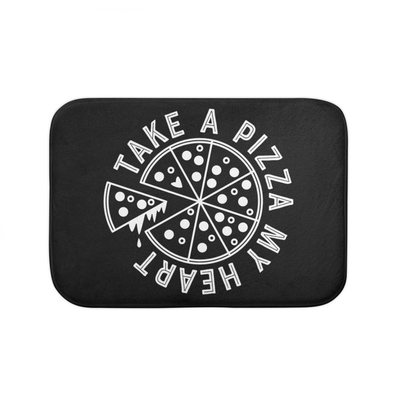 Pizza My Heart - White Home Bath Mat by Avo G'day!