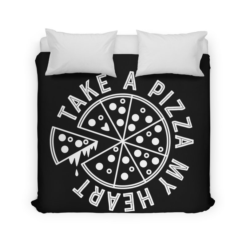 Pizza My Heart - White Home Duvet by Avo G'day!