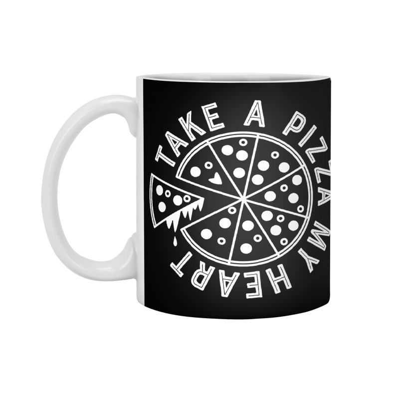 Pizza My Heart - White Accessories Standard Mug by Avo G'day!