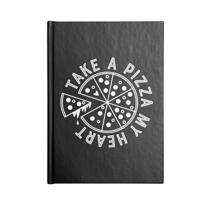 Pizza My Heart - White Accessories Blank Journal Notebook by Avo G'day!