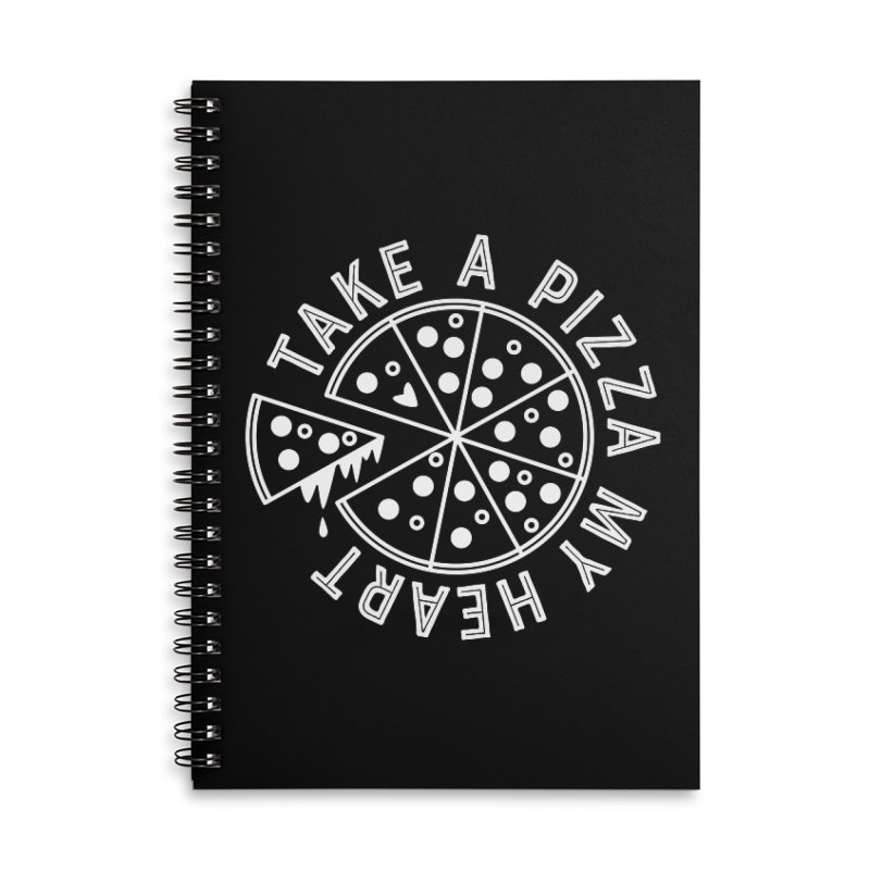 Pizza My Heart - White Accessories Lined Spiral Notebook by Avo G'day!