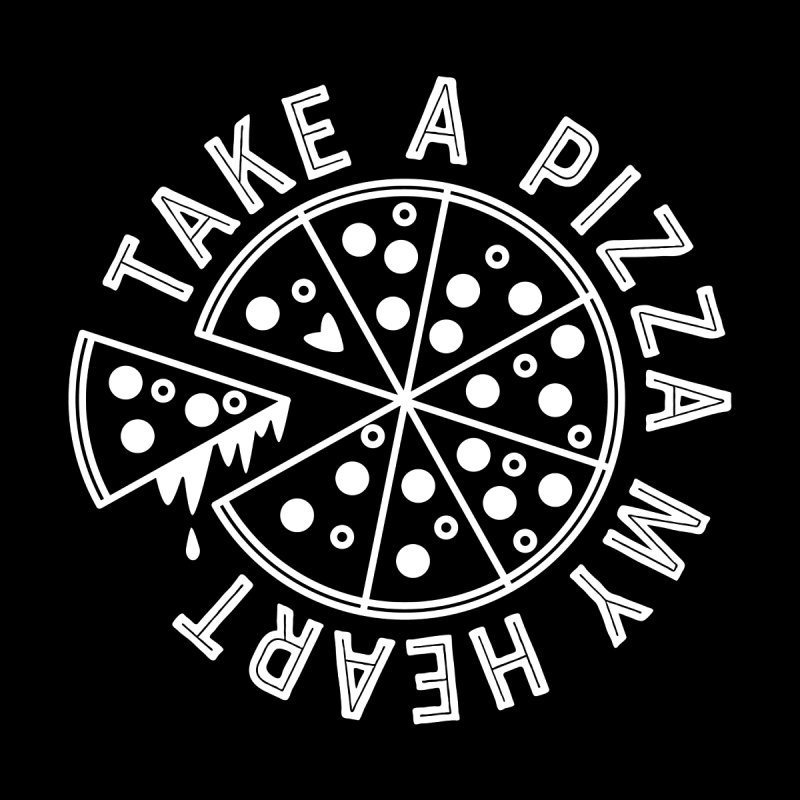 Pizza My Heart - White Men's V-Neck by Avo G'day!