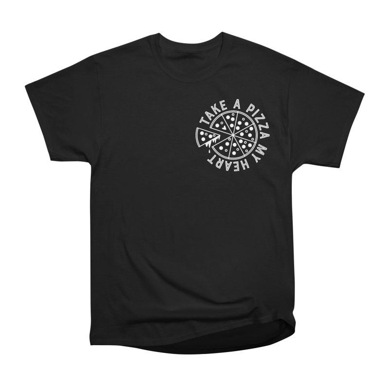 Pizza My Heart - White Men's T-Shirt by Avo G'day!