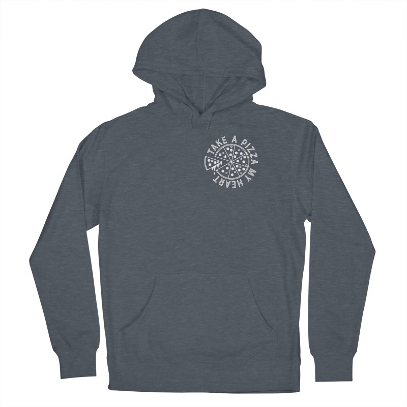 Pizza My Heart - White Men's Pullover Hoody by Avo G'day!