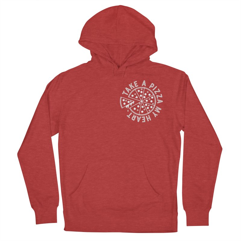 Pizza My Heart - White Women's French Terry Pullover Hoody by Avo G'day!