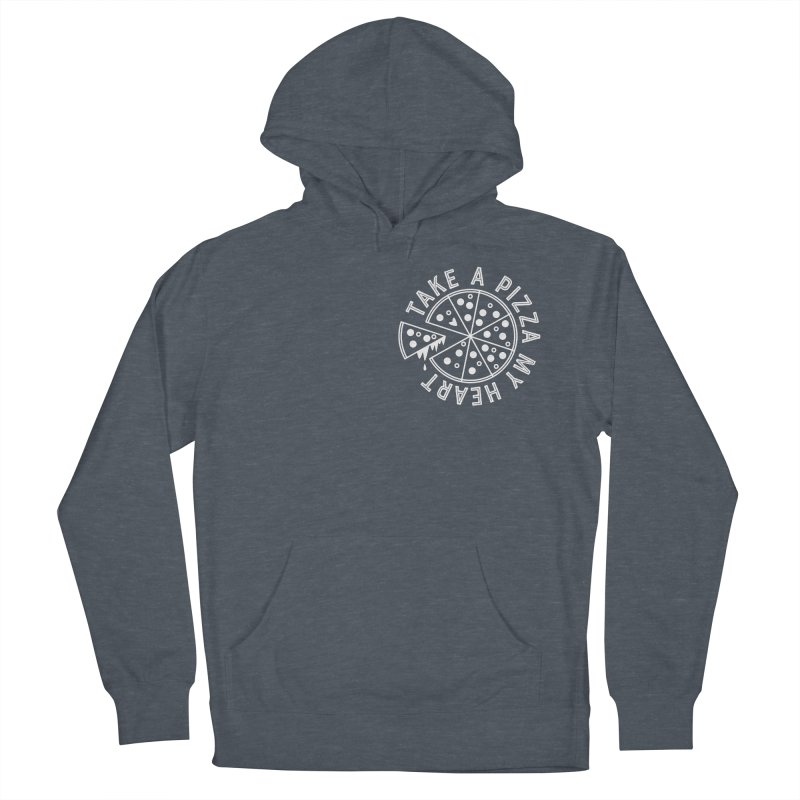 Pizza My Heart - White Men's French Terry Pullover Hoody by Avo G'day!