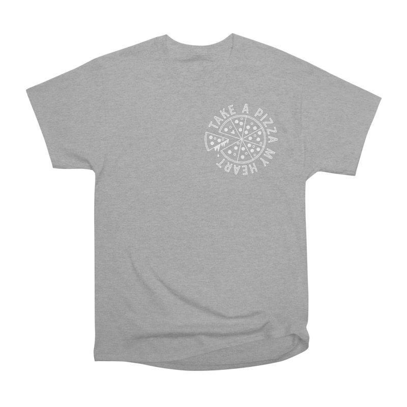 Pizza My Heart - White Men's Heavyweight T-Shirt by Avo G'day!