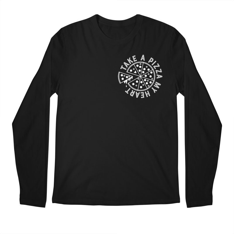 Pizza My Heart - White Men's Regular Longsleeve T-Shirt by Avo G'day!