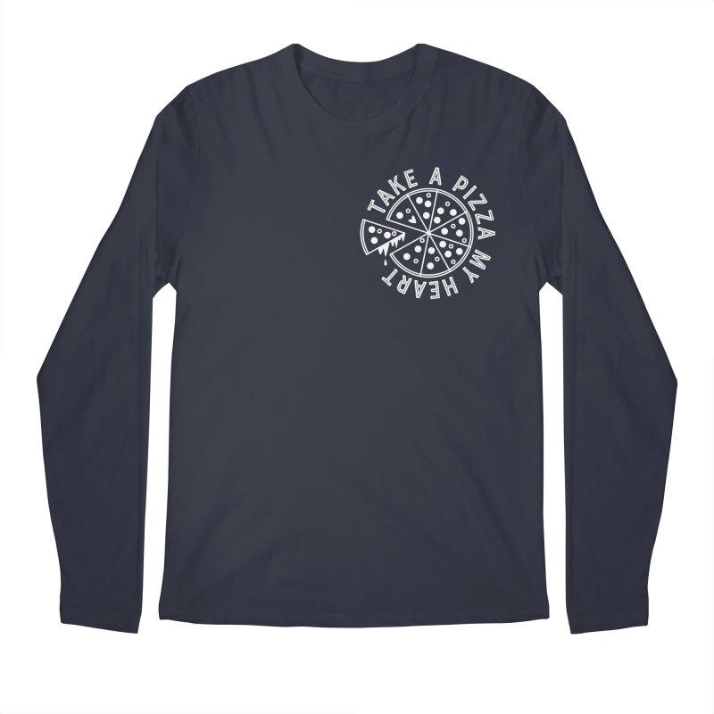 Pizza My Heart - White Men's Regular Longsleeve T-Shirt by Avo G'day!