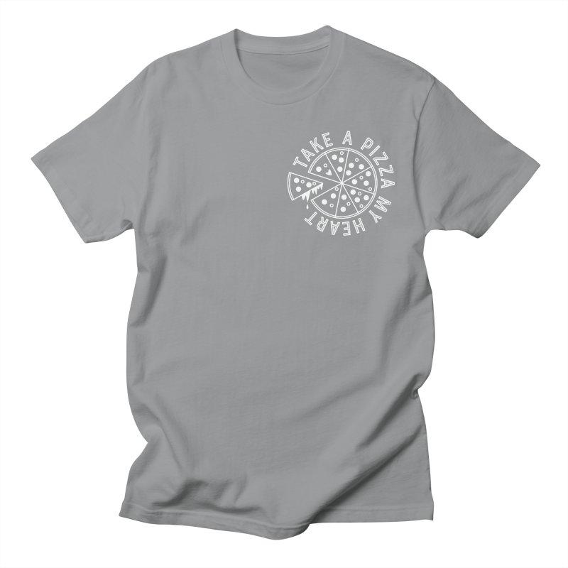 Pizza My Heart - White Men's Regular T-Shirt by Avo G'day!