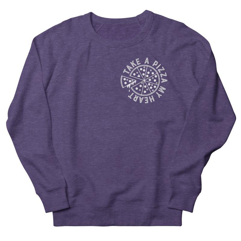 Pizza My Heart - White Men's French Terry Sweatshirt by Avo G'day!
