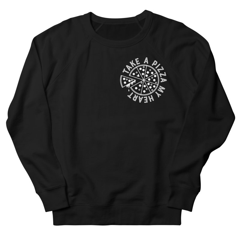 Pizza My Heart - White Men's French Terry Sweatshirt by Avo G'day!