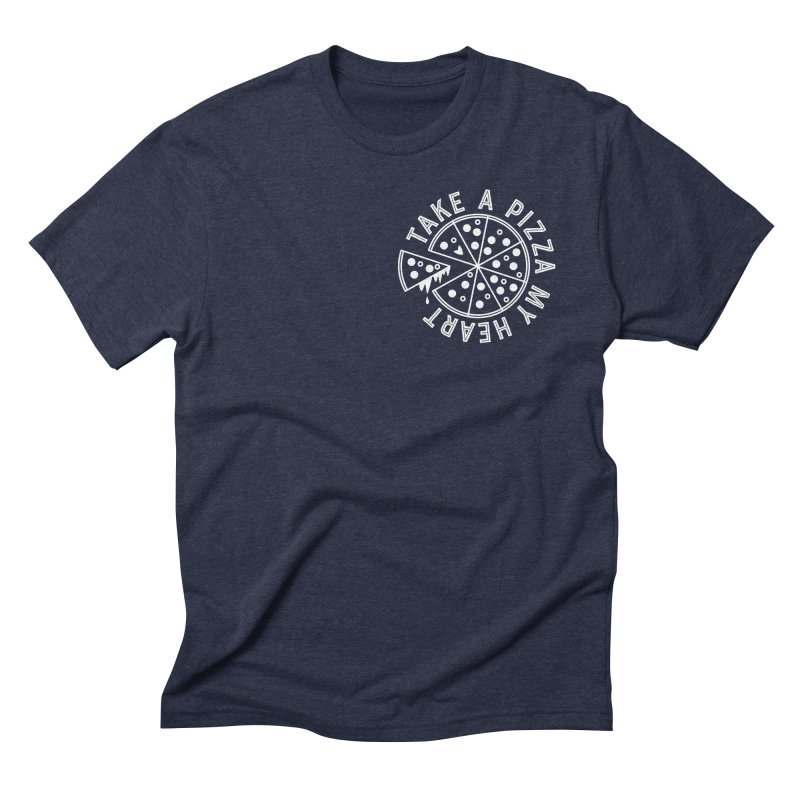 Pizza My Heart - White Men's Triblend T-Shirt by Avo G'day!