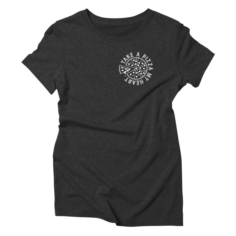 Pizza My Heart - White Women's Triblend T-Shirt by Avo G'day!