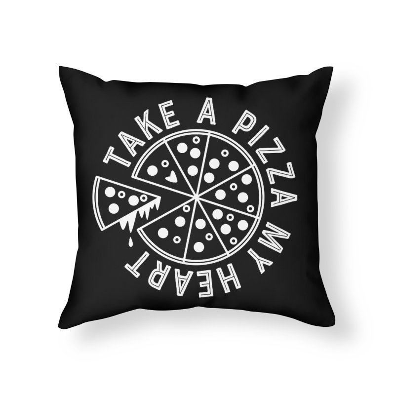 Pizza My Heart - White Home Throw Pillow by Avo G'day!
