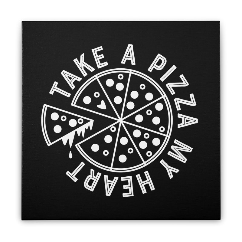Pizza My Heart - White Home Stretched Canvas by Avo G'day!