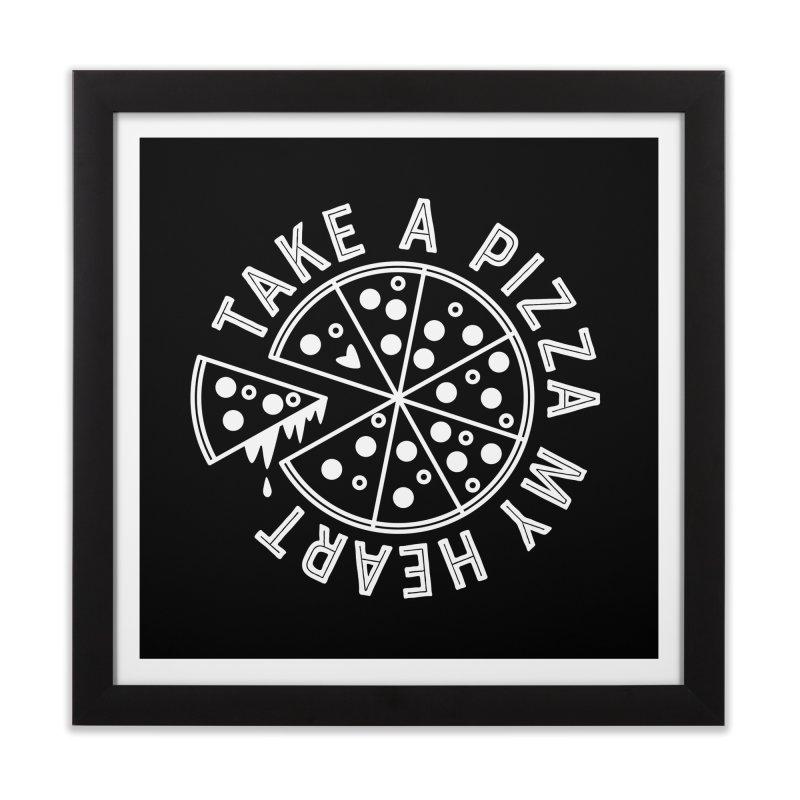 Pizza My Heart - White Home Framed Fine Art Print by Avo G'day!