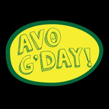 Avo G'day! Logo