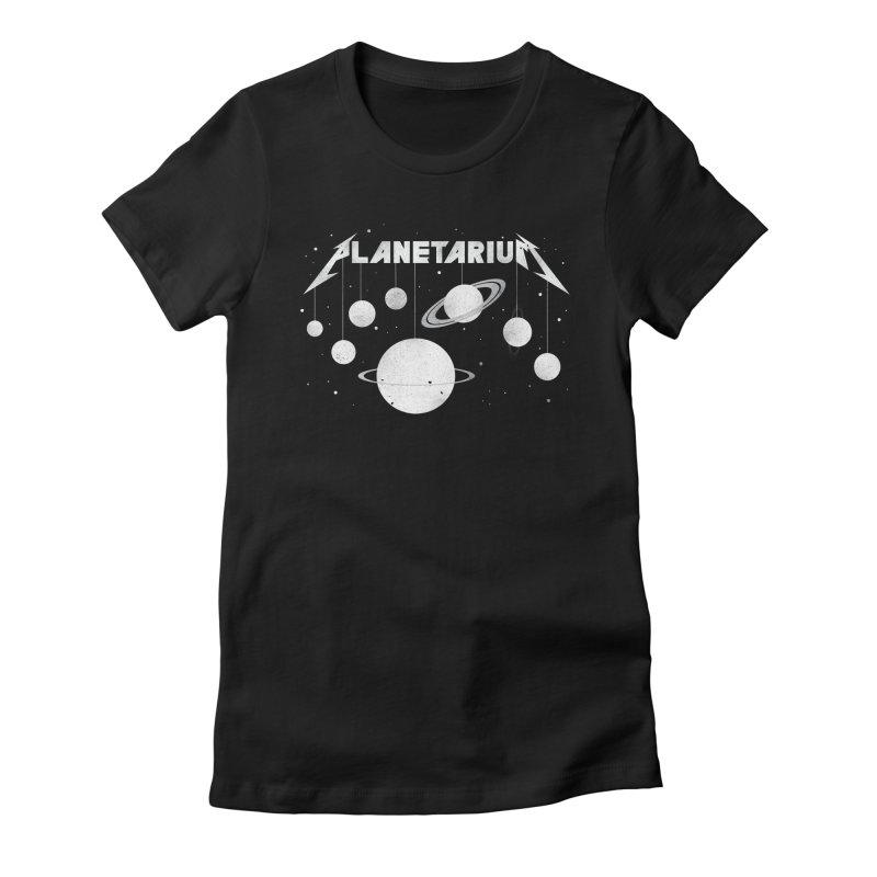 Planetarium Women's Fitted T-Shirt by avoidperil Artist Shop