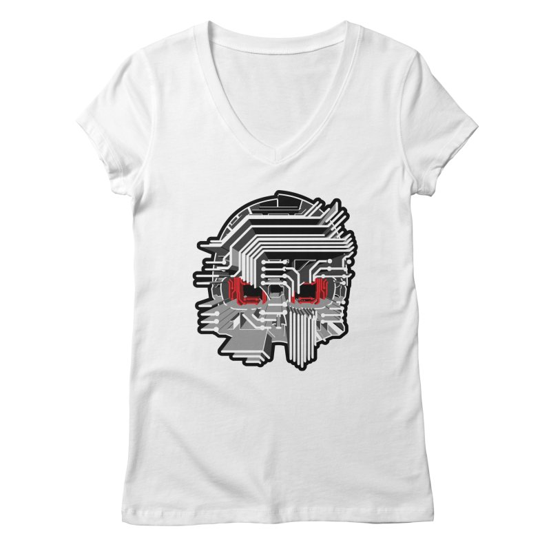 CIRCUIT DEATH Women's V-Neck by AW177