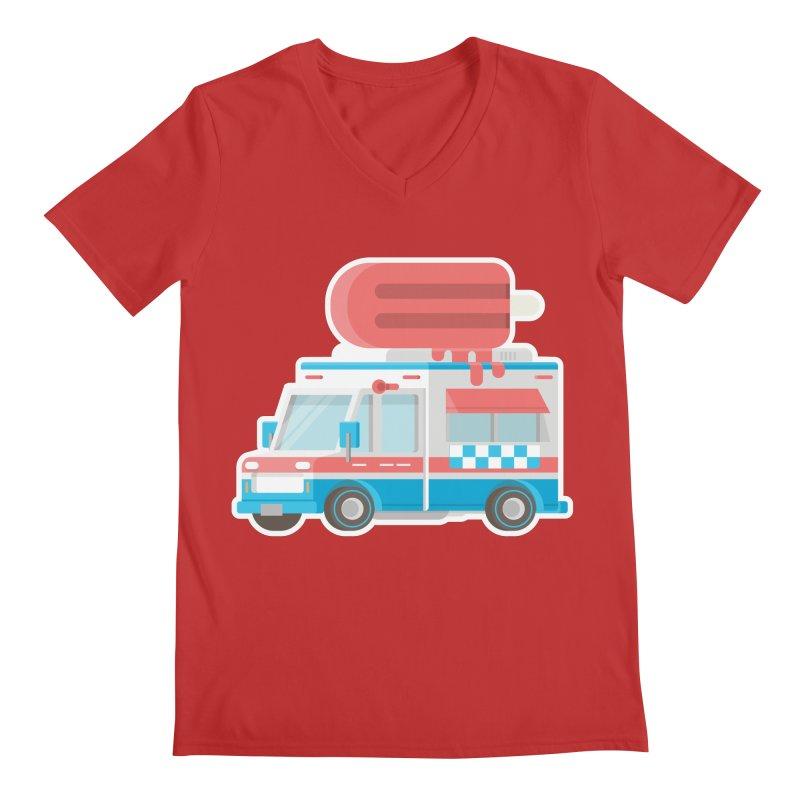 Le Truck Men's Regular V-Neck by awesombroso's Artist Shop