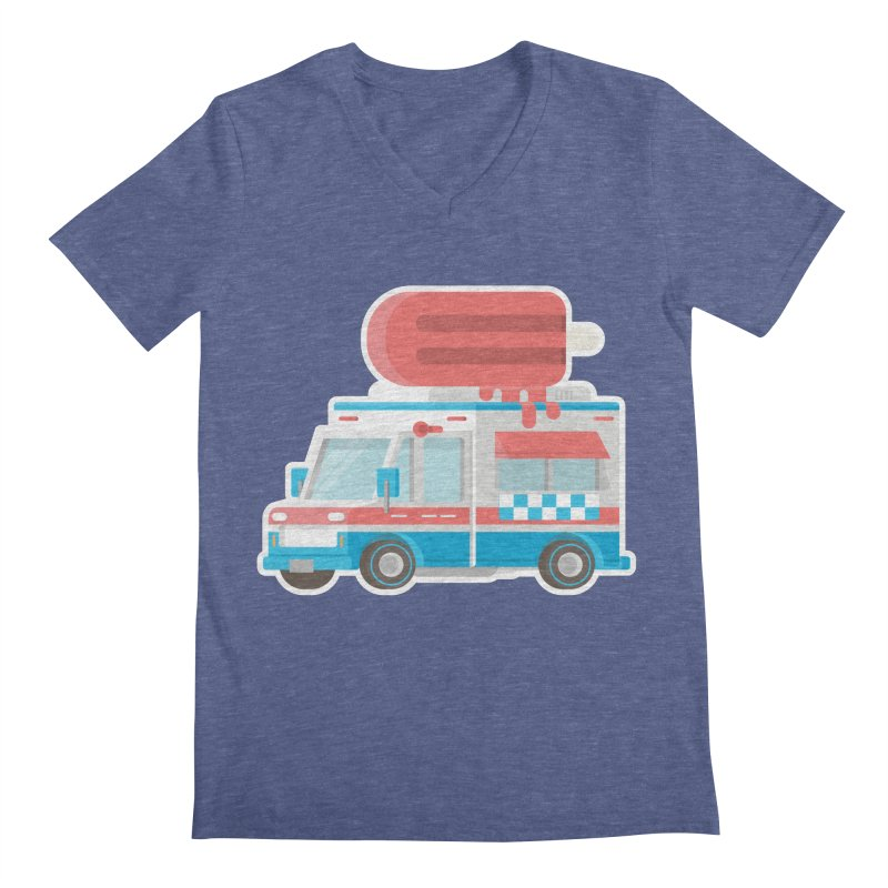Le Truck Men's V-Neck by awesombroso's Artist Shop
